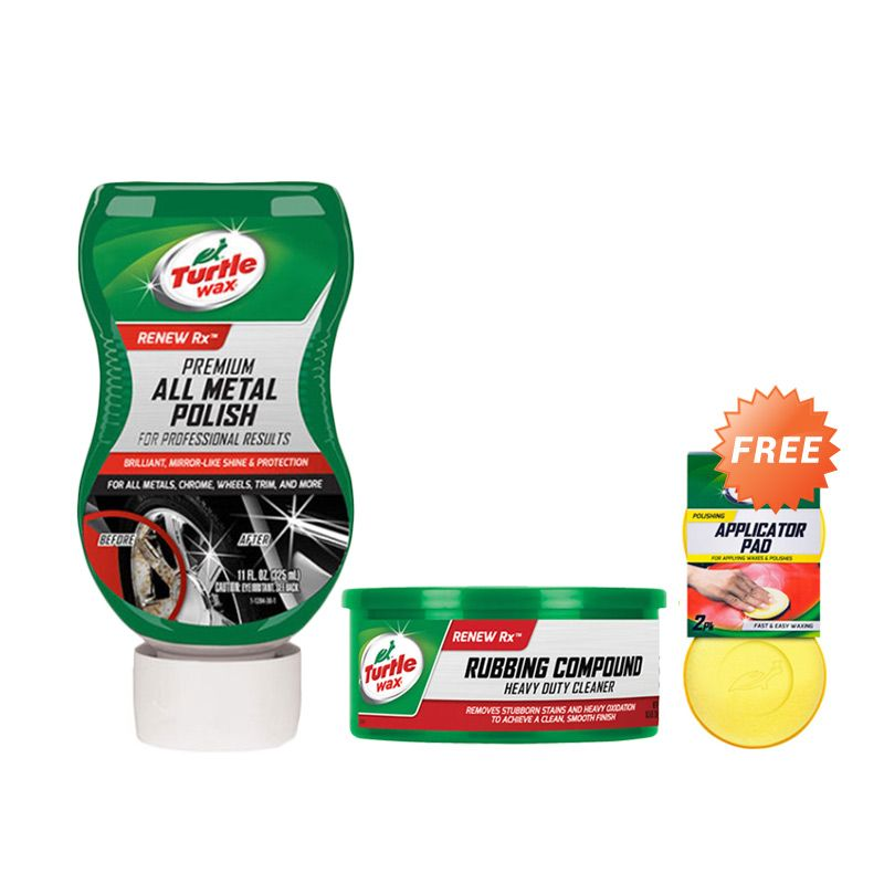 PROMO Buy 2 Get 1 Free : Turtlewax Series Compound & Chrome Polish